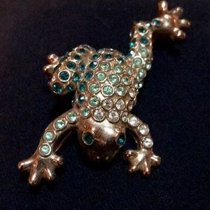Vintage Monet Leaping Frog Pin Brooch